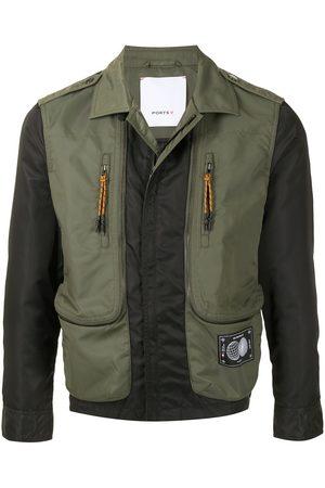 Ports V Panelled zipped bomber jacket