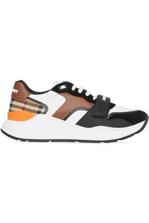 Burberry Men Sneakers - Vintage Check lace-up sneakers
