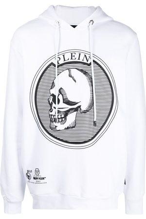 Philipp Plein Outline Skull crystal hoodie