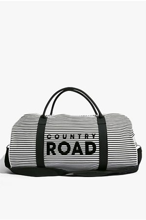 COUNTRY ROAD Flocked Stripe Tote
