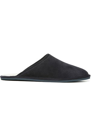 Vince Hampton Shearling-Lined Suede Slippers