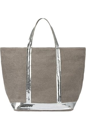 Vanessa Bruno Linen and Sequins M Cabas Tote