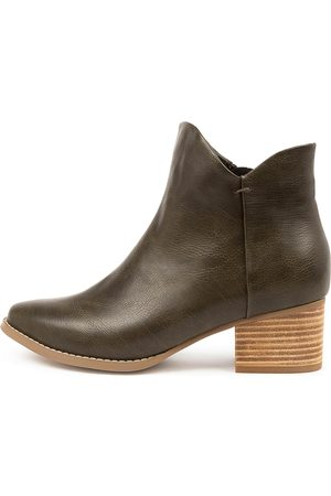 I LOVE BILLY Lexa Il Olive Boots Womens Shoes Casual Ankle Boots