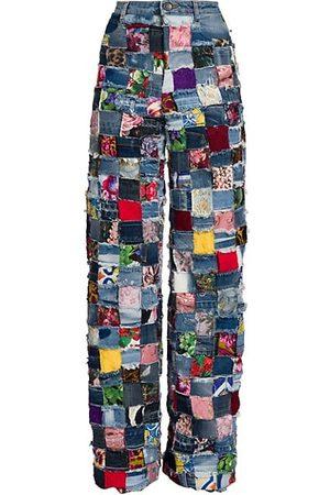 Dolce & Gabbana Women Bootcut & Flares - Patchwork Wide-Leg Jeans