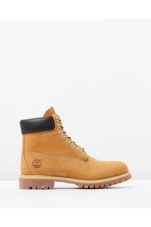 "Timberland 6"" Premium Waterproof Boots - Boots (Wheat Nubuck) 6"" Premium Waterproof Boots"