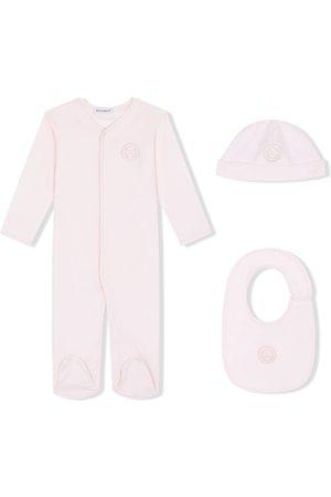 Dolce & Gabbana Kids Pyjamas - DG laurel-patch three-piece pajama set