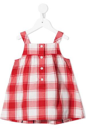 Familiar Sleeveless cotton checked dress