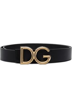 Dolce & Gabbana Men Belts - DG logo-plaque buckle belt
