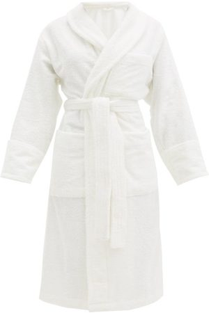 Tekla Cotton-terry Bathrobe - Womens - Ivory