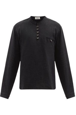 COMMAS Buttoned Linen-blend Shirt - Mens