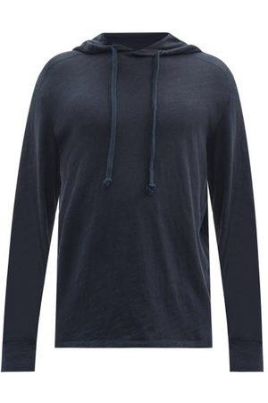 RAG&BONE Men Hoodies - Flame Carded Cotton-jersey Hooded Sweatshirt - Mens - Navy