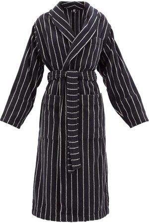 Tekla Striped Cotton-terry Bathrobe - Womens - Stripe