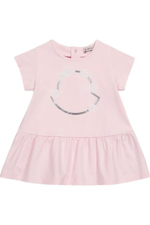 Moncler Baby logo stretch-cotton dress