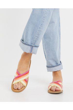 TOMS Viv sandals in orange stripe-Multi