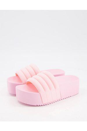 ASOS Flori flatform sliders in baby pink