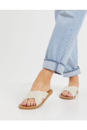 TOMS Viviana sandals in natural-White