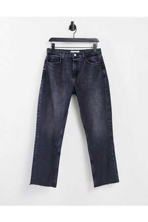 Topshop Straight leg jeans in washed black