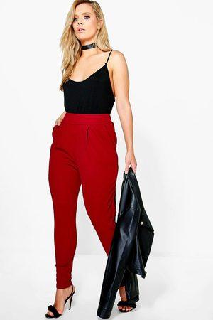 Boohoo Women Culottes - Plus Pleat Front Pants- Wine
