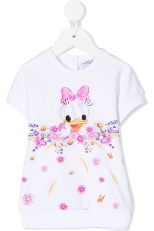 MONNALISA Baby Casual Dresses - Daisy Duck sweatshirt dress