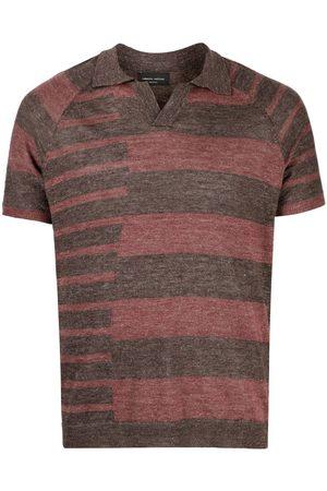 Roberto Collina Irregular stripe polo shirt