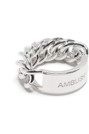 AMBUSH Men Rings - Logo-engraved chain ring