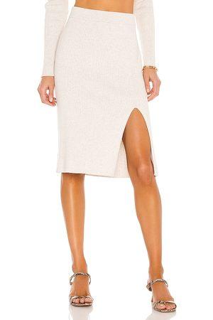Bobi BLACK Fine Cotton Sweater Skirt in .