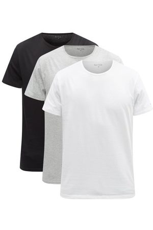 Paul Smith Pack Of Three Cotton-blend Jersey Pyjama Tops - Mens - Multi
