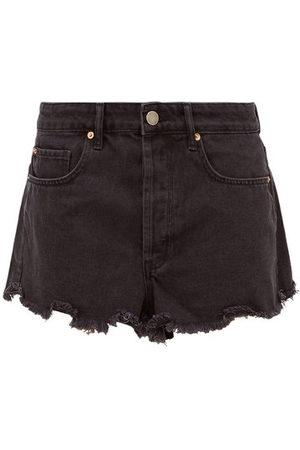 Raey Tahiti Frayed-hem Denim Shorts - Womens