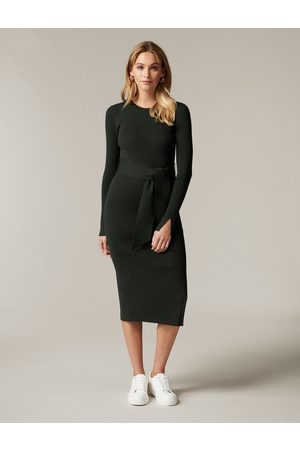 Forever New Women Casual Dresses - Lottie Crew Neck Column Knit Dress