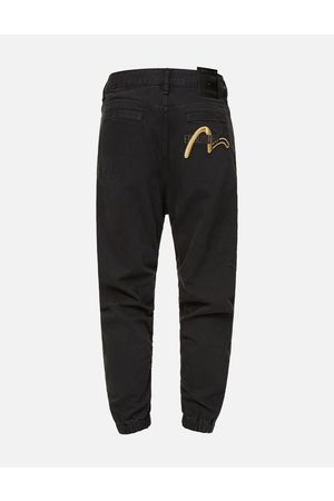 Evisu Men Jeans - Cast Shadow Effect Seagull Embroidered Jogging Jeans