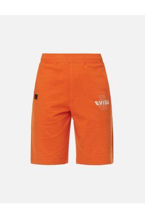 Evisu Brocade Seagull Appliqué Sweat Shorts
