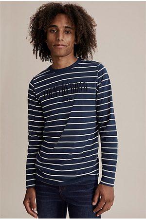 COUNTRY ROAD Kids Short Sleeve - Teen Verified Australian Cotton Heritage T-Shirt - Navy Stripe Marsh