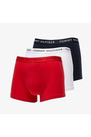 Tommy Hilfiger Men Boxer Shorts - 3 Pack Trunks / Red/ Desert Sky