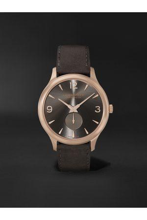 Chopard L.U.C XPS Automatic 40mm 18-Karat Rose Gold and Nubuck Watch, Ref. No. 161948-5003