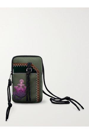 Moncler Genius 1 Moncler JW Anderson Logo-Appliquéd Canvas Phone Pouch with Lanyard