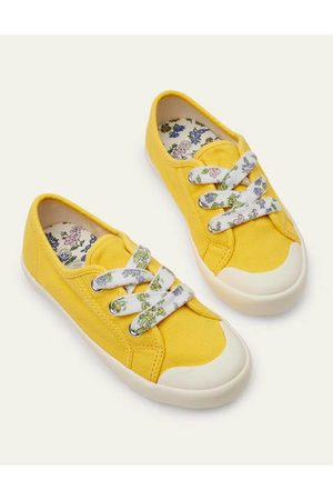 Boden Mini Girls Boots - Floral Lace Canvas Shoes Girls Boden