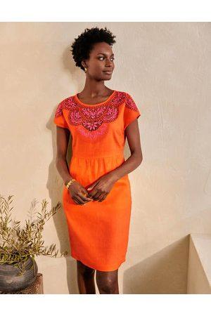 Boden Women Beach Dresses - Fleur Embroidered Linen Dress Women