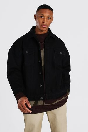 Boohoo Mens Washed Boxy Fit Denim Jacket