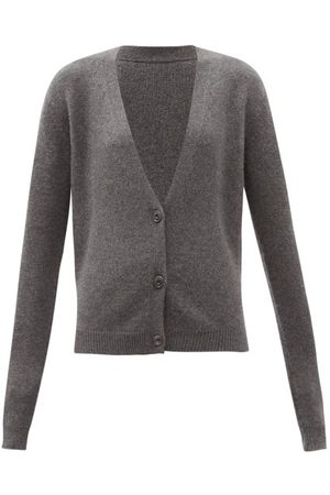 Raey Organic-cashmere Knitted Cardigan - Womens - Marl