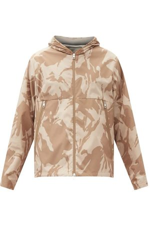 Moncler Camouflage-print Shell Hooded Jacket - Mens