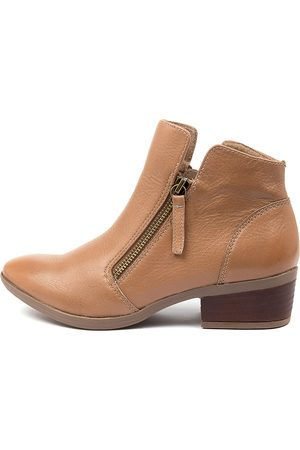 Diana Ferrari Women Ankle Boots - Zalen Df Dark Tan Boots Womens Shoes Casual Ankle Boots