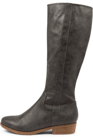 I LOVE BILLY Women Knee High Boots - Ronin Charcoal Boots Womens Shoes Casual Long Boots