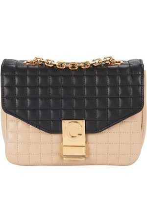 Céline Small C Bag In Bicolour Quilted Calfskin