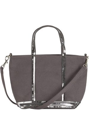 Vanessa Bruno Canvas and Sequins XS Cabas Tote