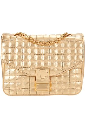 Céline Small C Bag In Laminated Quilted Calfskin