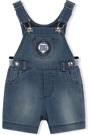 Dolce & Gabbana Bodysuits & All-In-Ones - Logo-embroidered denim dungarees