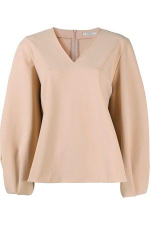 Nina Ricci Women Blouses - Flared v-neck blouse