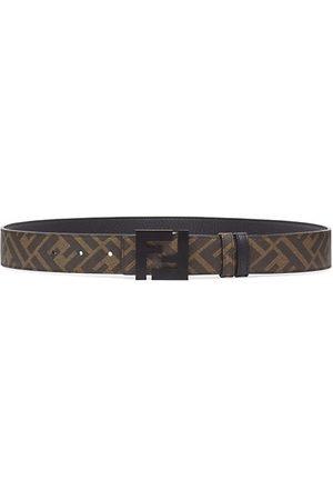 Fendi FF Logo Reversible Leather Belt