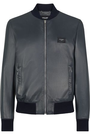 Dolce & Gabbana Men Leather Jackets - Lambskin leather bomber jacket