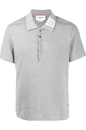 Thom Browne Ribbed short-sleeve polo shirt
